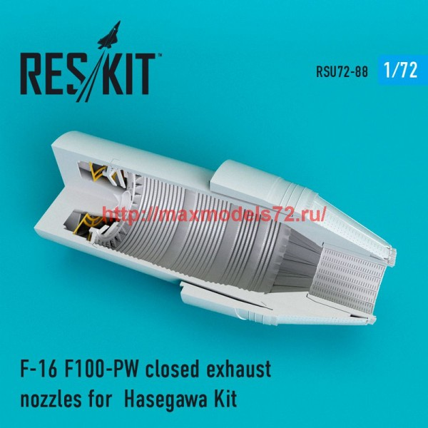 RSU72-0088   F-16 F100-PW closed exhaust nozzles for  Hasegawa Kit (thumb48729)