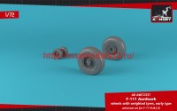 AR AW72337   1/72 F-111 Aardvark early type wheels w/ weighted tires (attach2 49126)