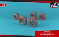 AR AW72421   1/72 A.W. Valiant wheels w/ weighted tires (attach2 49136)