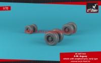 AR AW72422   1/72 A.W. Argosy wheels w/ weighted tires, early version (attach2 49141)