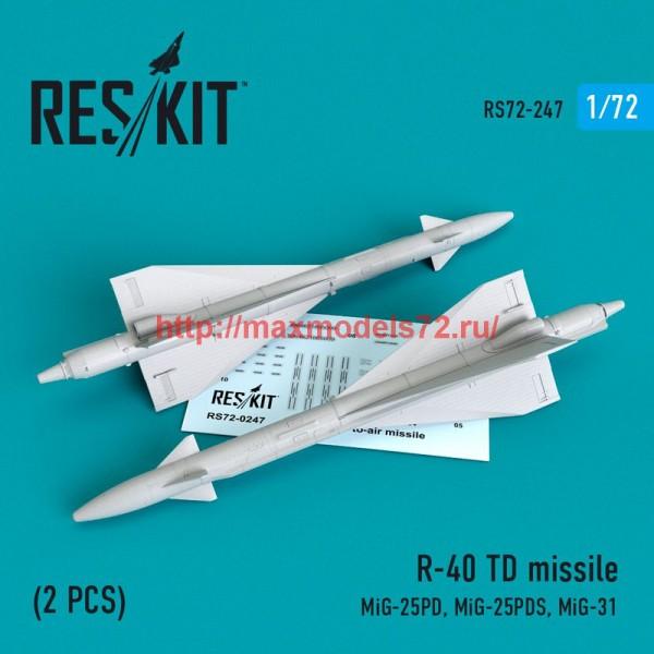 RS72-0247   R-40 TD missile (2 PCS) (MiG-25PD,Mig-25PDS, MiG-31) (thumb48643)