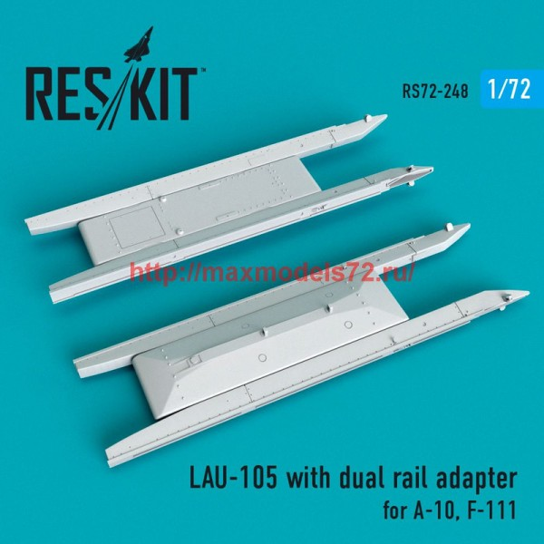 RS72-0248   LAU-105 with dual rail adapter (2 PCS) A-10, F-111 (thumb48645)