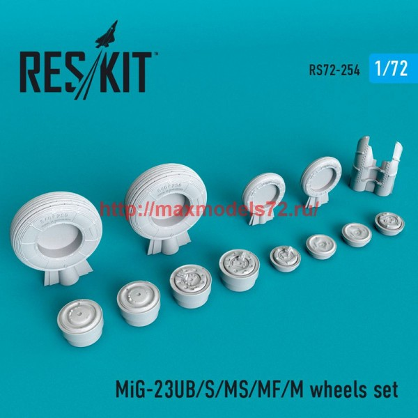 RS72-0254   MiG-23 (UB/S/MS/MF/M) wheels set (thumb48651)
