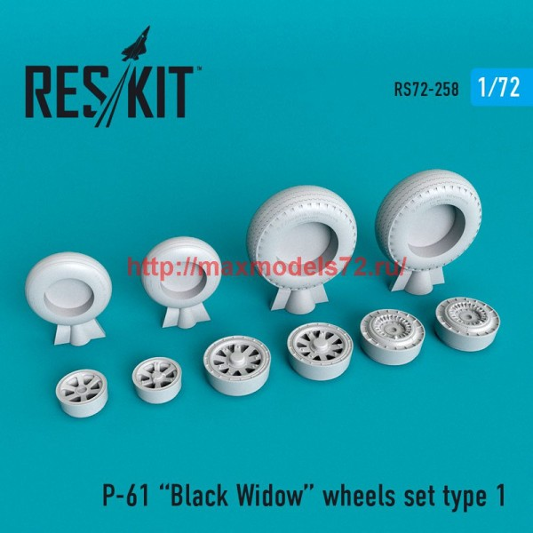 RS72-0258   P-61 Black Widow wheels set (thumb48659)