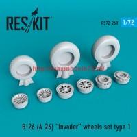 RS72-0260   B-26 (A-26)  Invader wheels set type 1 (thumb48661)