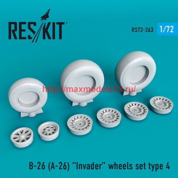 RS72-0263   B-26 (A-26)  Invader type 4 wheels set (thumb48667)