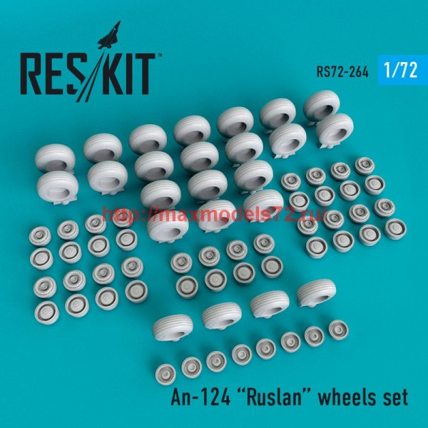 RS72-0264   An-124 Ruslan wheels set (thumb48669)