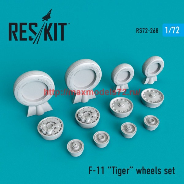 RS72-0268   F-11 Tiger wheels set (thumb48677)