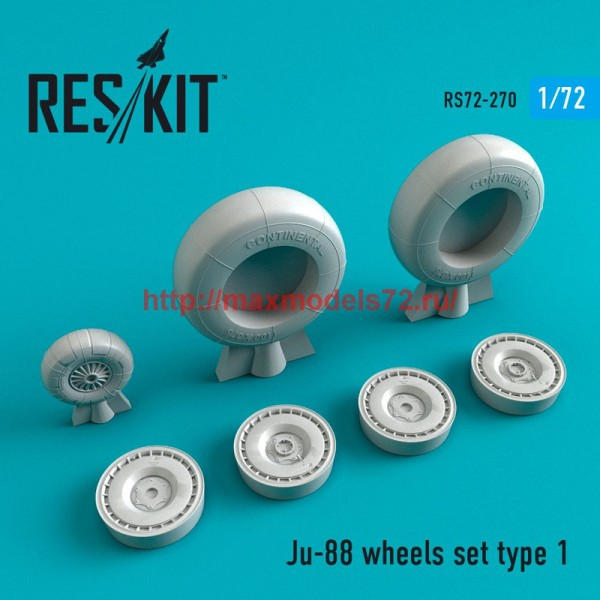 RS72-0270   Ju-88 wheels set  type 1 (thumb48681)