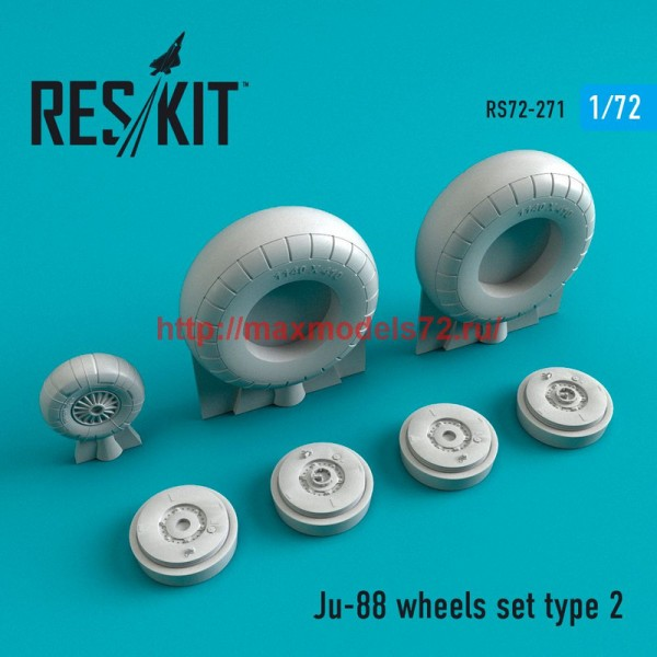 RS72-0271   Ju-88 wheels set  type 2 (thumb48683)