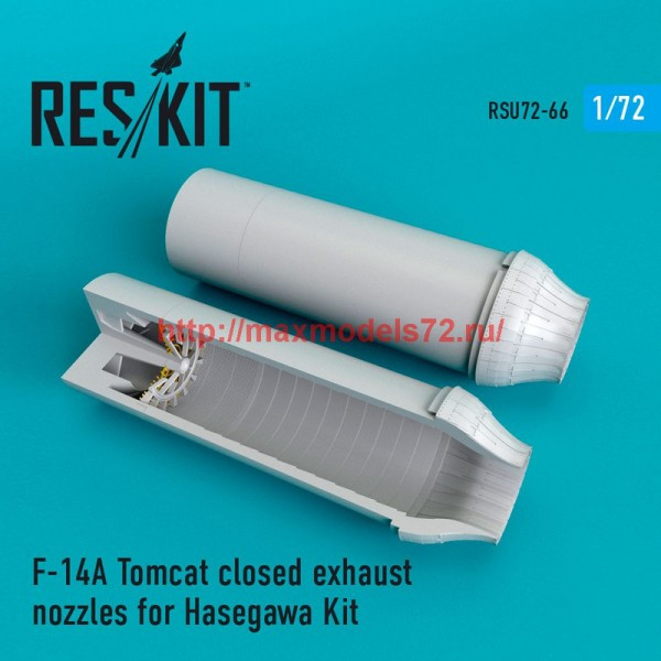 RSU72-0066   F-14A Tomcat closed exhaust nozzles for Hasegawa Kit (thumb48693)