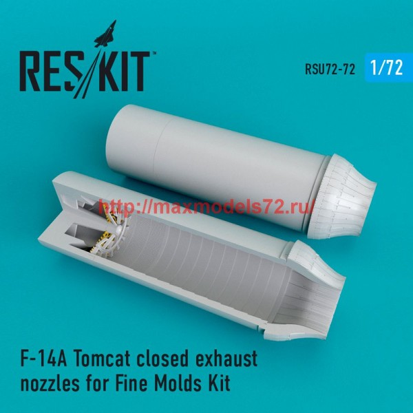 RSU72-0072   F-14A Tomcat closed exhaust nozzles for Fine Molds Kit (thumb48699)