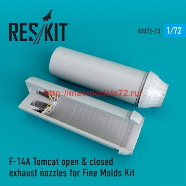 RSU72-0073   F-14A Tomcat open & closed exhaust nozzles for Fine Molds Kit (thumb48701)