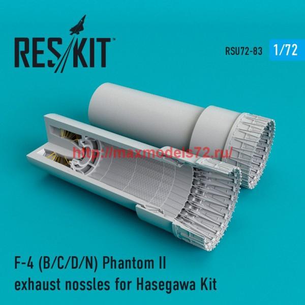 RSU72-0083   F-4 Phantom II (B/C/D/N) exhaust nossles for Hasegawa Kit (thumb48718)