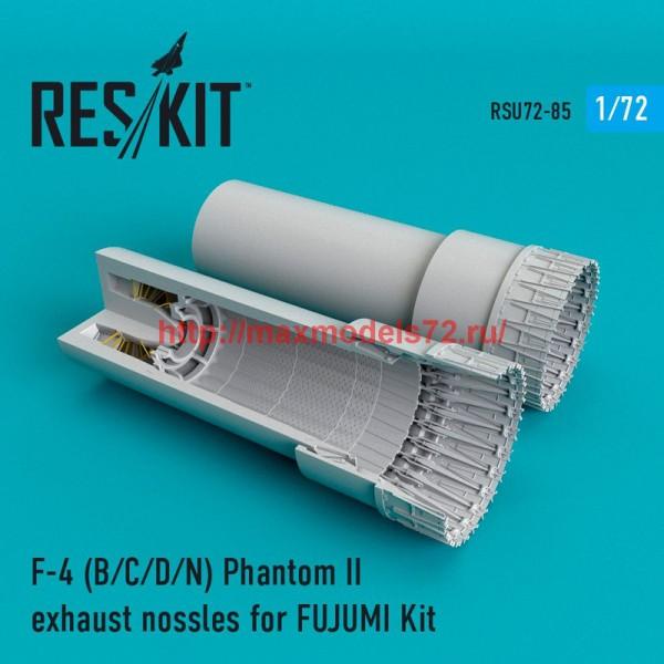 RSU72-0085   F-4 Phantom II (B/C/D/N) exhaust nossles for FUJUMI Kit (thumb48722)