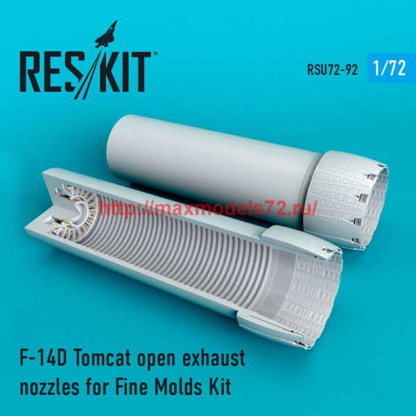 RSU72-0092   F-14D Tomcat open exhaust nozzles for Fine Molds Kit (thumb48739)