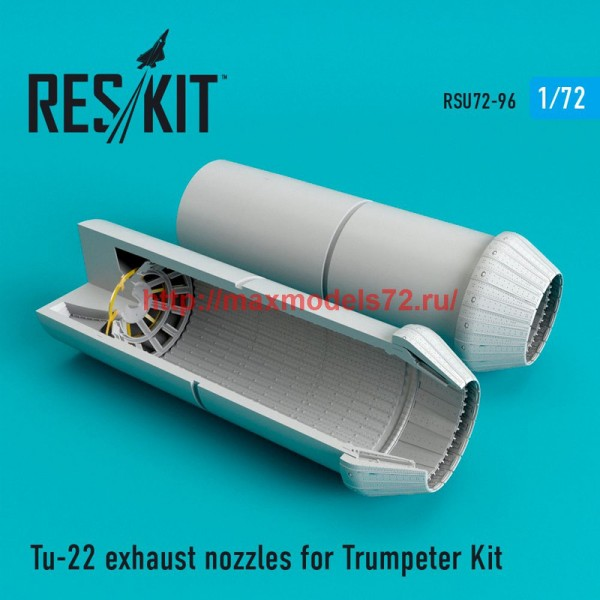 "RSU72-0096   Tu-22  ""Blinder"" exhaust nozzles fo Trumpeter Kit (thumb48747)"