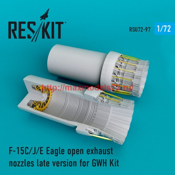 RSU72-0097   F-15C/J/E Eagle open exhaust nozzles  late version for  GWH Kit (thumb48749)