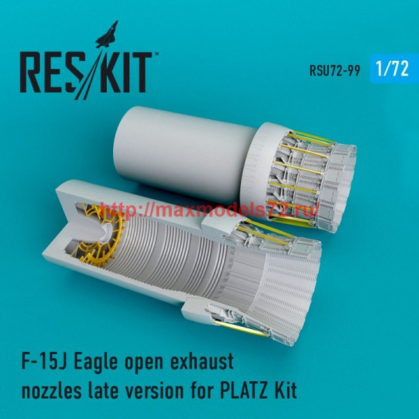RSU72-0099   F-15J Eagle open exhaust nozzles for  PLATZ Kit (thumb48753)