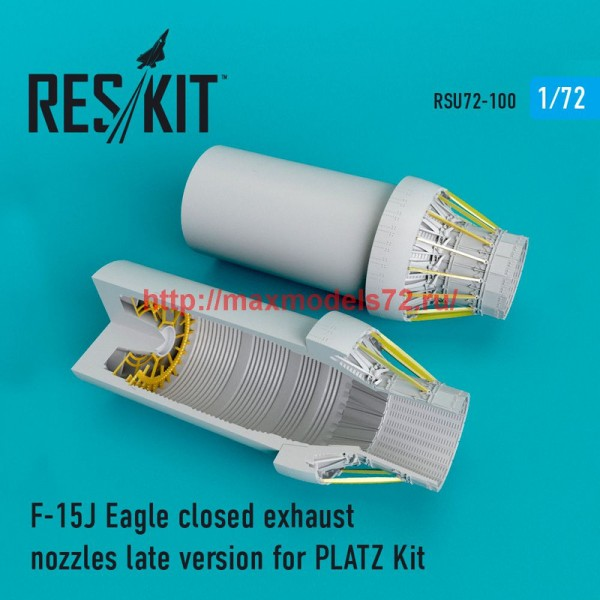 RSU72-0100   F-15J Eagle closed exhaust nozzles PLATZ Kit (thumb48755)