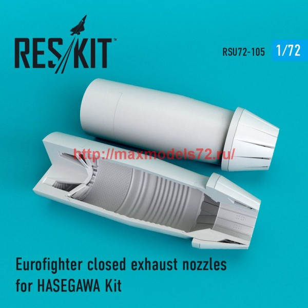 RSU72-0105   Eurofighter closed exhaust nozzles for  HASEGAWA Kit (thumb48765)