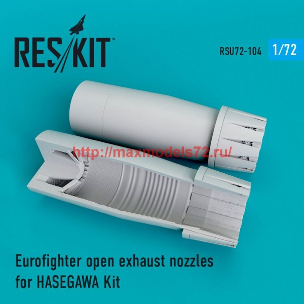 RSU72-0106   Eurofighter open exhaust nozzles for  HASEGAWA Kit (thumb48767)