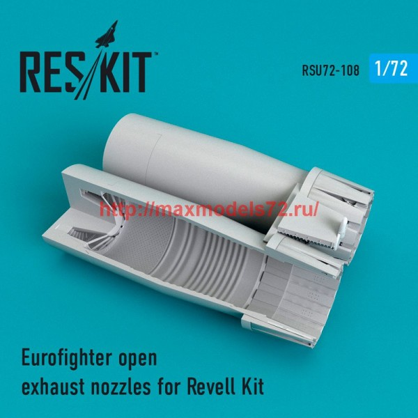 RSU72-0108   Eurofighter open exhaust nozzles for Revell Kit (thumb48771)