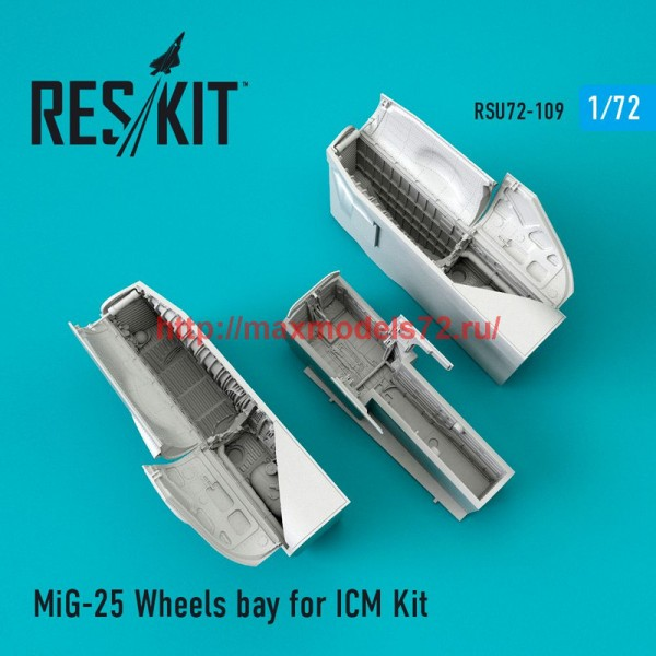 RSU72-0109   MiG-25 Wheels bay for ICM Kit (thumb48773)