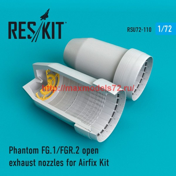 RSU72-0110   Phantom FG.1/FGR.2 open exhaust nozzles for Airfix Kit (thumb48775)