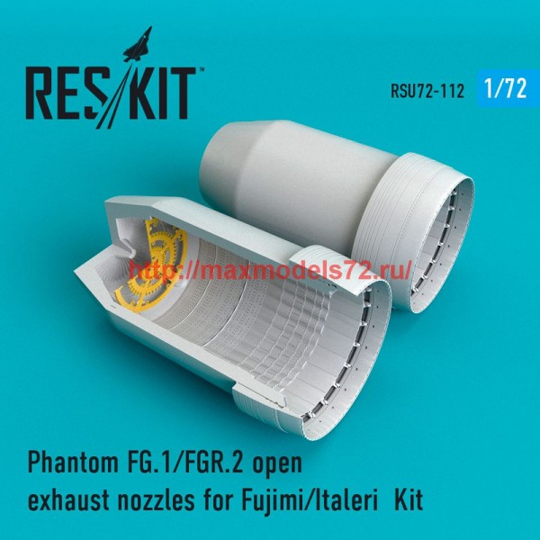 RSU72-0112   Phantom FG.1/FGR.2 open exhaust nozzles for Fujimi/Italeri  Kit (thumb48779)