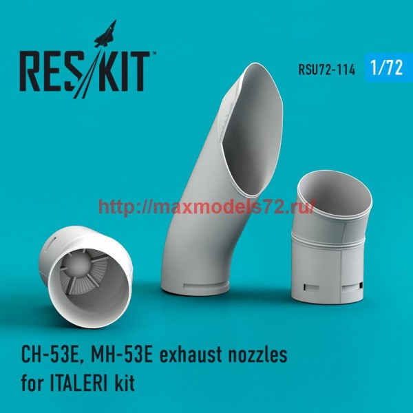 RSU72-0114   CH-53E, MH-53E exhaust nozzles for ITALERI kit (thumb48782)