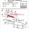A-squared72022   Su-27UB gun port (photoetched detailing set) for Zvezda kit (attach3 49867)