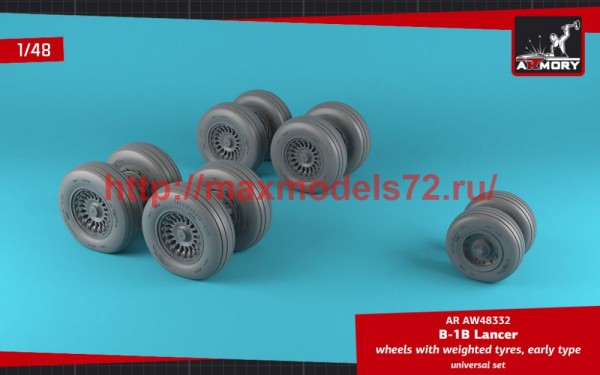 AR AW48332   1/48 B-1B Lancer wheels w/ weighted tires, early (thumb50716)