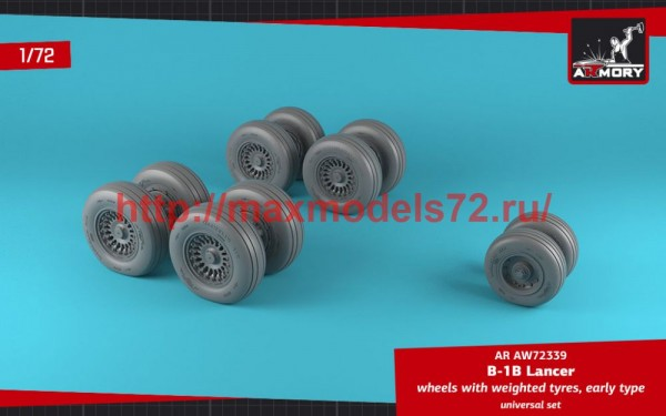 AR AW72339   1/72 B-1B Lancer wheels w/ weighted tires, early (thumb50746)
