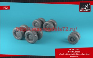 AR AW72340   1/72 B-1B Lancer wheels w/ weighted tires, late (thumb50751)
