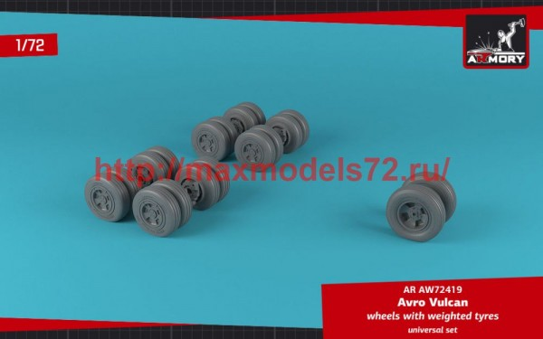 AR AW72419   1/72 AVRO Vulcan wheels w/ weighted tires (thumb50776)