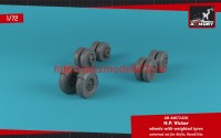 AR AW72420   1/72 H.P. Victor wheels w/ weighted tires (attach1 49131)