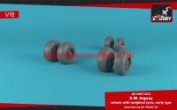AR AW72422   1/72 A.W. Argosy wheels w/ weighted tires, early version (attach1 49141)