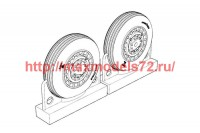 BRL72222   F4U Corsair Late Ribbed Thread (late «50s) Wheels set (attach1 49324)