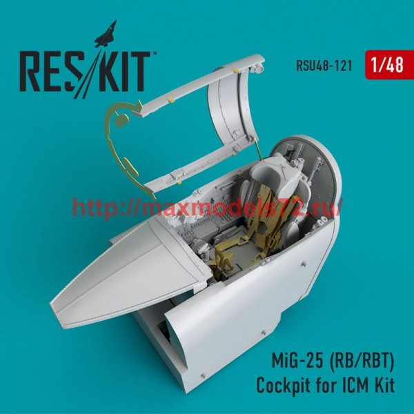 RSU48-0121   MiG-25 (RB/RBT) Cockpit for ICM Kit (thumb50353)