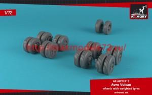 AR AW72419   1/72 AVRO Vulcan wheels w/ weighted tires (attach3 50776)