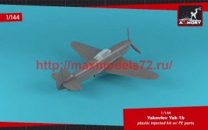 AR14310   1/144 Yakovlev Yak-1b early (green-black camo), Soviet WWII fighter (attach4 51165)