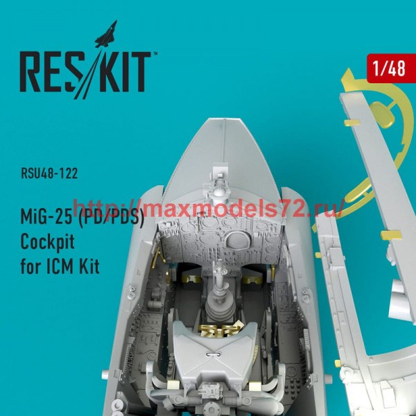 RSU48-0122   MiG-25 (PD/PDS) Cockpit for ICM Kit (thumb50357)
