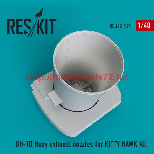 RSU48-0124   UH-1D Huey exhaust nozzles for  KITTY HAWK Kit (thumb50362)