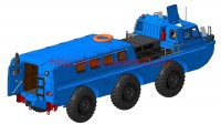 AMinA133456   Советский трехосный полноприводный автомобиль (пассажирский и грузовой). Шнекороторный снегоболотоход. Посадочный модуль. (attach5 52126)