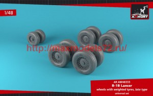 AR AW48333   1/48 B-1B Lancer wheels w/ weighted tires, late (attach2 50721)