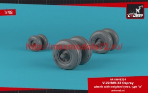 """AR AW48334   1/48 OV-22 Osprey wheels w/ weighted tires type """"a"""" (attach2 50726)"""