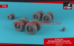 AR AW72508   1/72 Concorde wheels w/ weighted tires, early (attach2 50781)