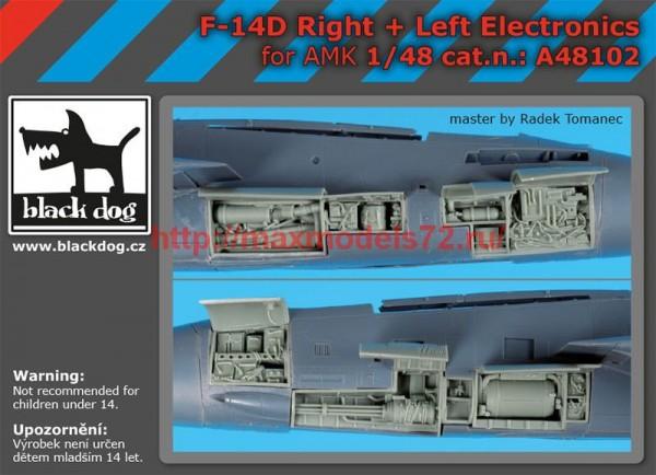 BDA48102   1/48 F-14 D right +left electronics (thumb55317)