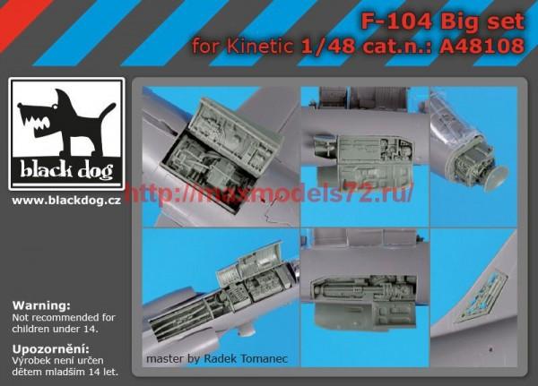 BDA48108   1/48 F-104 big set (thumb55367)